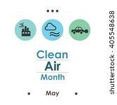 vector illustration   clean air ... | Shutterstock .eps vector #405548638