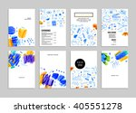 hand drawn style business... | Shutterstock .eps vector #405551278