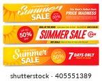 summer sale banners set | Shutterstock .eps vector #405551389