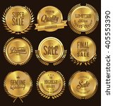 quality golden medallion with... | Shutterstock .eps vector #405553390