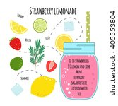 recipe of lemonade with... | Shutterstock .eps vector #405553804