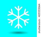 snowflake icon design  vector