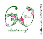 60 years anniversary. happy... | Shutterstock . vector #405558289