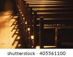 Rows Of Church Benches....