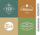 set of organic food badges....