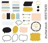 stickers for organized your... | Shutterstock .eps vector #405575650