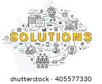 flat style  thin line art... | Shutterstock .eps vector #405577330