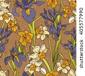 seamless pattern with beautiful ... | Shutterstock .eps vector #405577990