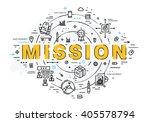 flat style  thin line art...   Shutterstock .eps vector #405578794