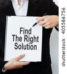 find the right solution | Shutterstock . vector #405586756