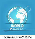 world health day with concept ... | Shutterstock .eps vector #405591304
