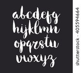 hand drawn vector alphabet.... | Shutterstock .eps vector #405594664