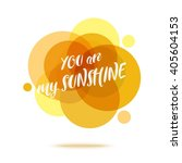 you are my sunshine creative... | Shutterstock .eps vector #405604153