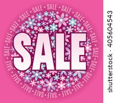 pink sale graphic with flower...   Shutterstock .eps vector #405604543