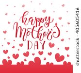 happy mother's day text as... | Shutterstock .eps vector #405605416