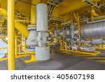 pipeline production and valve... | Shutterstock . vector #405607198