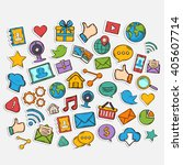 mobile apps vector icon set... | Shutterstock .eps vector #405607714