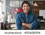 portrait of handsome young man... | Shutterstock . vector #405608596