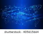 abstract technology circuit... | Shutterstock .eps vector #405615664
