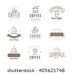 collection of coffee icons  ... | Shutterstock .eps vector #405621748