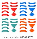 ribbon vector set isolated on... | Shutterstock .eps vector #405625573