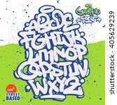 bubble graffiti font family | Shutterstock .eps vector #405629239