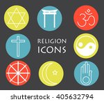 set of religion icons | Shutterstock .eps vector #405632794