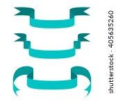 set of blue retro ribbon... | Shutterstock .eps vector #405635260