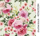 seamless floral pattern with... | Shutterstock . vector #405635284