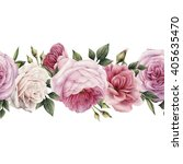 seamless floral pattern with... | Shutterstock . vector #405635470