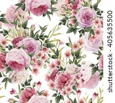 seamless floral pattern with... | Shutterstock . vector #405635500