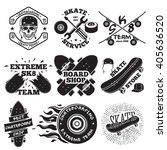 set of skateboarding labels  ... | Shutterstock .eps vector #405636520