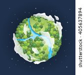 earth day. green planet concept ... | Shutterstock .eps vector #405637894