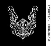 vector floral neckline design... | Shutterstock .eps vector #405638626