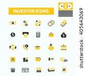 investor icons  | Shutterstock .eps vector #405643069