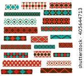 native american washi tape...   Shutterstock .eps vector #405644713