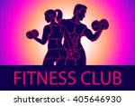 man and woman fitness template. ... | Shutterstock .eps vector #405646930