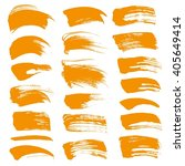 abstract orange vector brush... | Shutterstock .eps vector #405649414