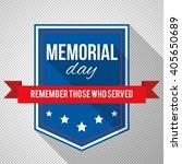 memorial day background. vector ... | Shutterstock .eps vector #405650689