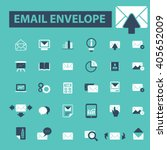 email envelope icons  | Shutterstock .eps vector #405652009