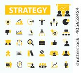 strategy icons  | Shutterstock .eps vector #405653434
