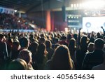 the audience watching the... | Shutterstock . vector #405654634