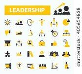 leadership icons  | Shutterstock .eps vector #405654838
