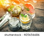 fruit drinks with ice. cocktail ... | Shutterstock . vector #405656686