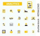 analytics icons    Shutterstock .eps vector #405661363