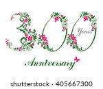 300 years anniversary. happy... | Shutterstock . vector #405667300