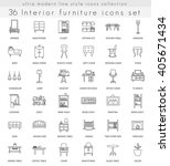 vector interior furniture ultra ...   Shutterstock .eps vector #405671434
