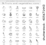 vector fruits and vegetables... | Shutterstock .eps vector #405671443
