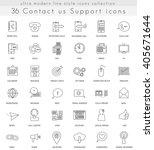 vector contact us ultra modern... | Shutterstock .eps vector #405671644