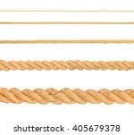 collection of various ropes on...   Shutterstock . vector #405679378
